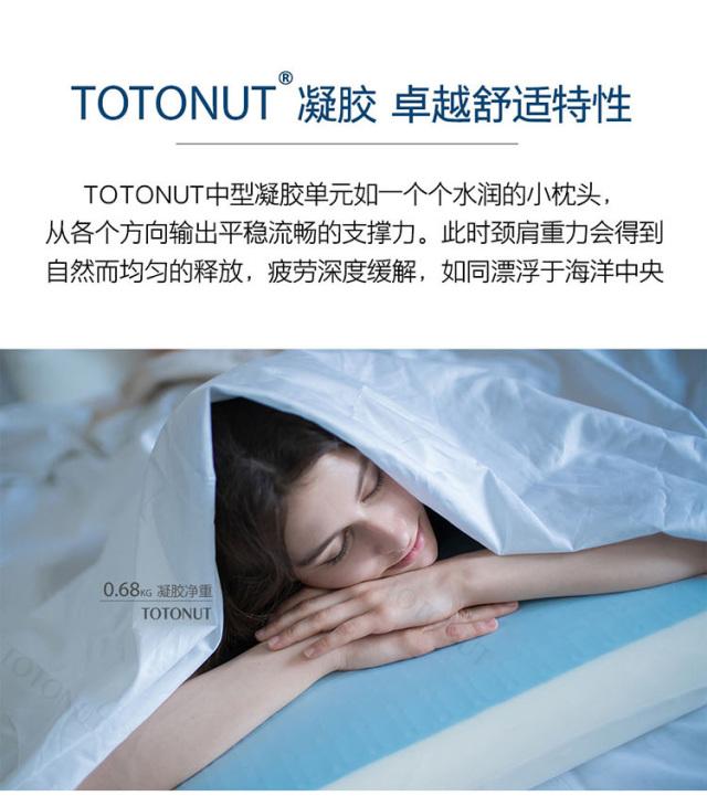 TOTONUT蓝白色凝胶枕