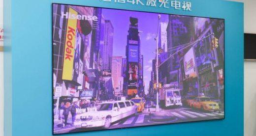 海信4K激光电视:不含辐射,让你家娃看电视不伤眼