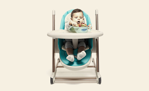 babycare 儿童餐椅:仿生级骨骼呵护,多角度调节孩子更舒适