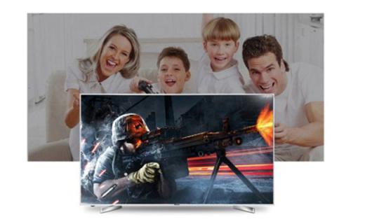 海信LED 55寸电视:4K HDR画面显示,纤薄机身颜值高