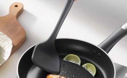 拉歌蒂尼钠伯硅胶中式铲:食品硅胶材质安全环保,工学手柄抓握舒适