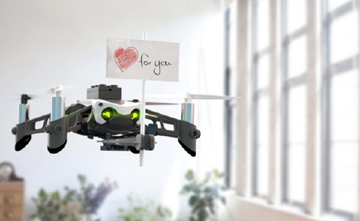 Parrot新款小飞机,能射子弹能传情书,玩法超多