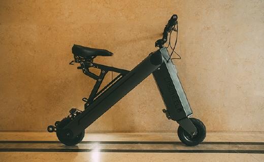 外观拉风的折叠电单车,超长续航让我轻松上下班