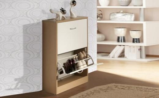 Homestar鞋柜:精选实木颗粒板材,透气孔设计无异味