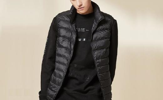 网易严选羽绒背心:高度含绒轻便保暖 压光按格充分锁温