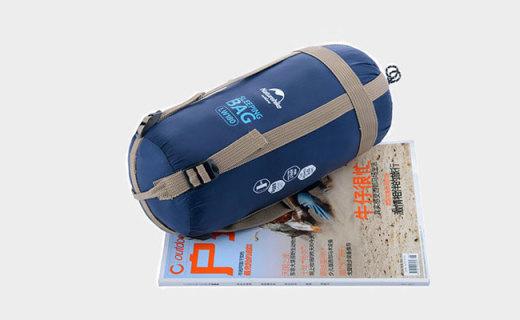 挪客迷你睡袋:折叠后只有杂志大小,防水防泼清凉也舒适