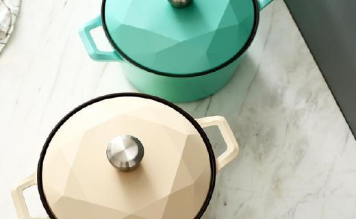 网易严选Carat汤锅:陶瓷涂层安全耐用,钻石设计高颜值