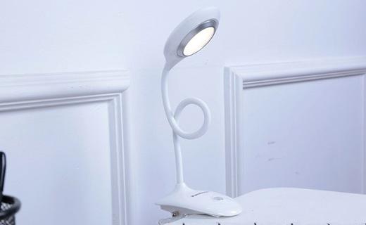 松下 HH-LA0232LED护眼台灯:无频闪不伤眼,背夹设计随心夹放