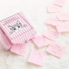 Polar Bear  猫部猫咪肉球化妆棉粉色压花60枚