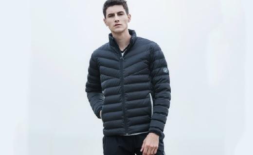 亚瑟士羽绒夹克:双层面料防水保暖,冬天也能轻便出行