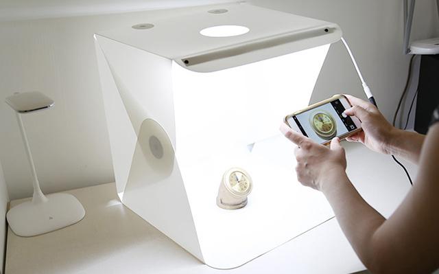Lumibox 可折叠摄影棚+无影底灯
