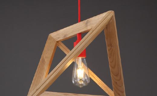 Turning橡树吊灯:极简几何造型,材质坚固体现好品位
