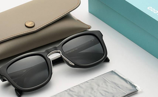 Bluekiki黑框太阳镜:轻奢帅气有型,偏光镜片防UV