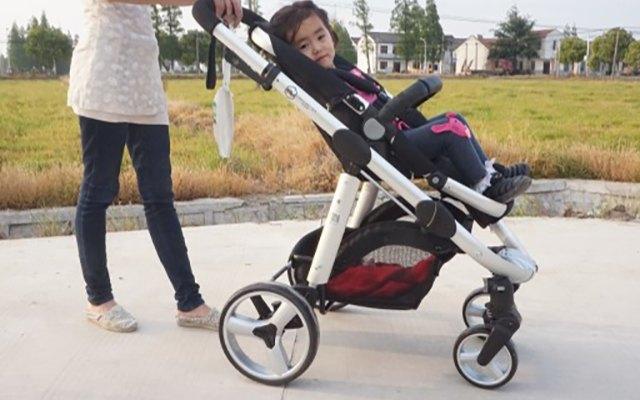 远离汽车尾气,孩子出行新选择 — 虎贝尔高景观婴儿推车体验