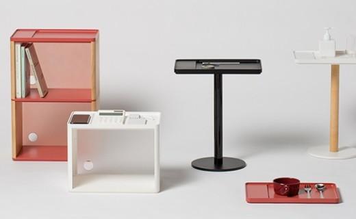三星推极简风办公室家具,采用智能无线充电