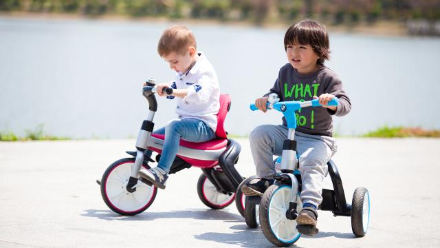 宝马 三合一折叠儿童三轮车