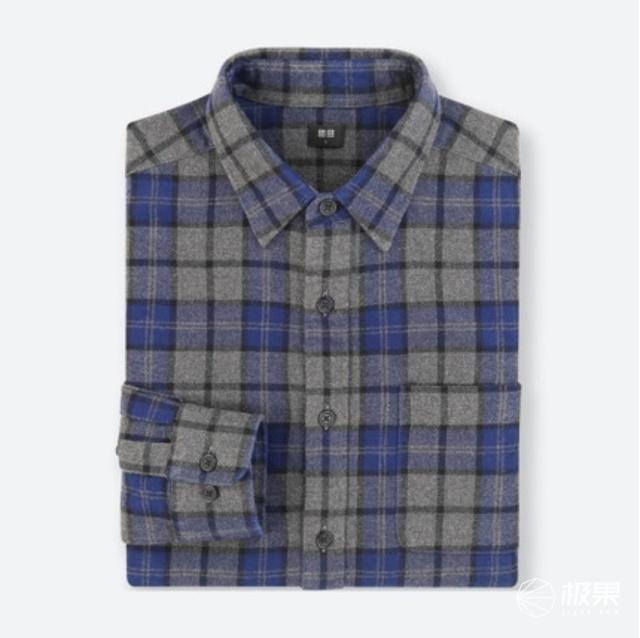 优衣库(UNIQLO)401848法兰绒格子衬衫