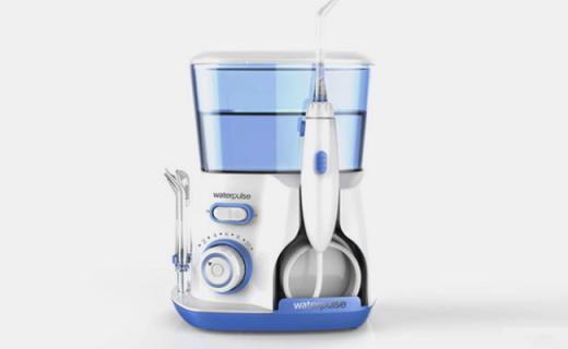 健适宝V300洗牙器:水压动力强劲十段可调,多种喷头全面护理清洁