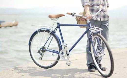 永久复古自行车:304不锈钢双折车把,复古车身安全防护