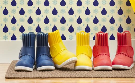 四季都能穿的超轻儿童雨靴,宝宝自己都能穿