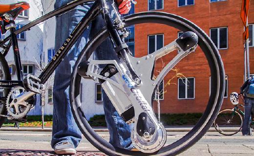 装上这个不用打气不怕扎的轮子,单车秒变电动车