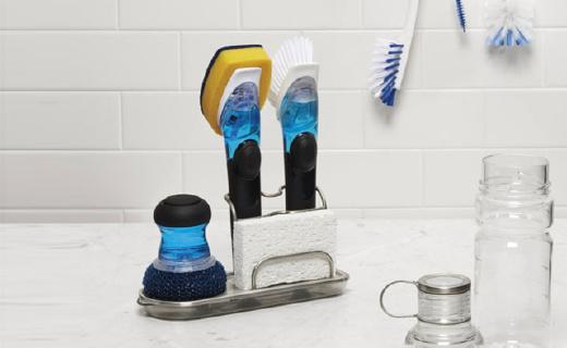奥秀碗刷:可自动添加清洁剂,手不沾水也能洗碗