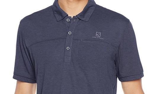 萨洛蒙男士POLO衫:柔软棉质透气吸汗,经典纯色超百搭