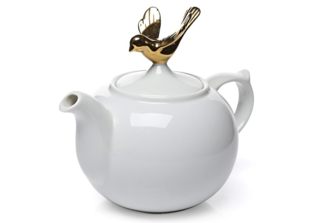 Topchoice百灵鸟陶瓷茶壶