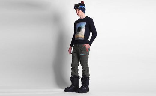 Quiksilver男士滑雪裤:加厚填充材质禁摔打,内置抗水防风裙