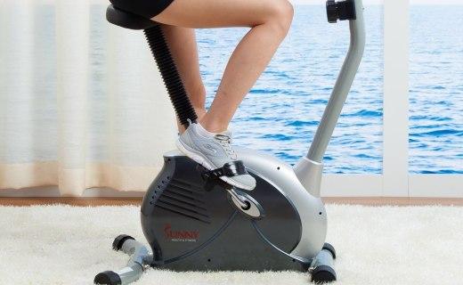 SUNNY P8200健身车:椭圆机身时尚简约,心率感应扶手实时读取数据