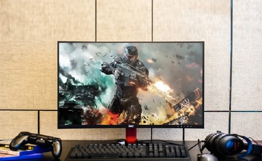 HKC G27显示器:27英寸曲面大屏,高刷新率游戏无拖影