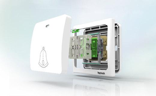"""领普自发电门铃:设计简约音量大,无需排线用""""力""""发电"""