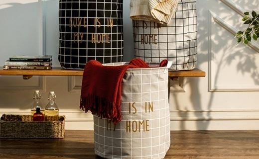 奇居良品大号脏衣篮:防水耐撕大容量,提手设计更便捷