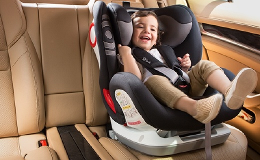 Savile儿童安全座椅:防偏头枕头设计,140°斜躺角度可调