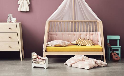 北欧实木儿童床,竟然能用一辈子