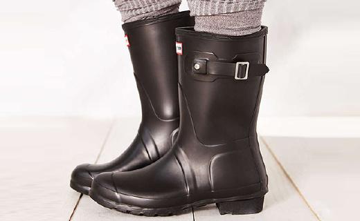 Hunter Original女士雨靴:英国王室御用品牌,天然橡胶手工制作