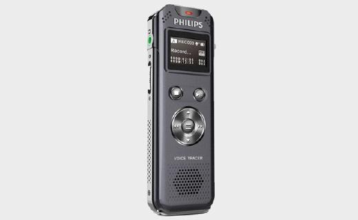 飞利浦VTR5800录音笔:8G内存,双麦克风降噪,40小时续航