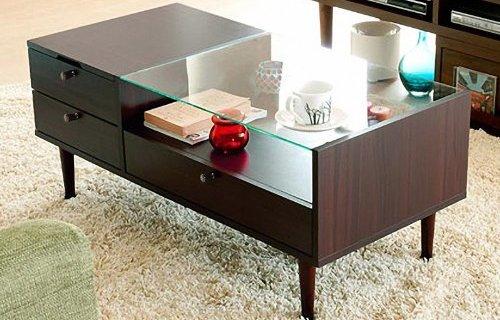 择木宜居茶几:三抽一柜超大空间收纳,E1级环保材质