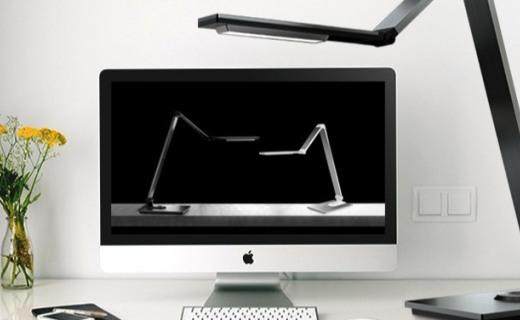 松下 HHLT0616 LED台灯:进口LED芯片柔和无眩光,多阶段调节随心折叠