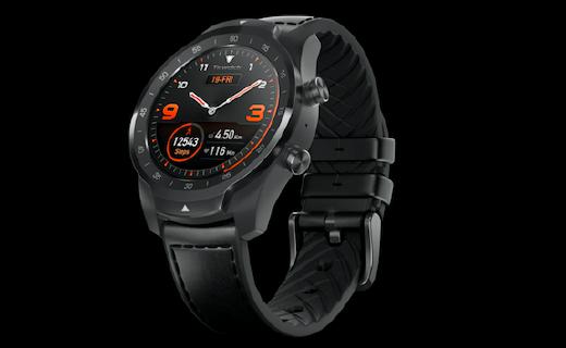 出门问问智能手表:机械表商务造型,续航可达三十天