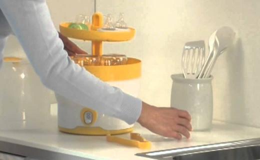 博雅BY76奶瓶消毒器:一次可以消毒6只奶瓶,7分钟快速消毒