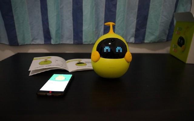 父母助手,幼儿伴侣:布丁迷你豆智能机器人
