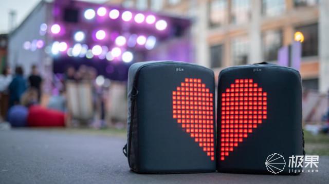 潮爆!这款背包居然自带屏幕,穿上它就是行走的表情包