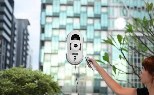 HOBOT擦窗机器人:真空吸附不掉落,MEMS智能规划不留死角