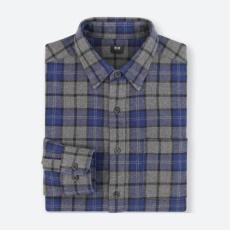 优衣库(UNIQLO) 401848 法兰绒格子衬衫