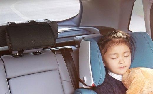 米家車載空氣凈化器:雙輪鏡像循環氣流,高效吸附車內有害物質