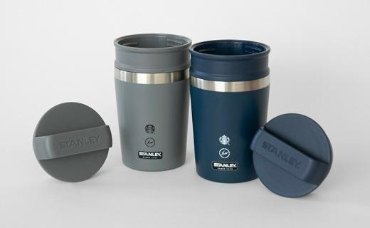 星巴克联名Stanley、藤原浩推出定制水杯,工业风设计,售价4000日元