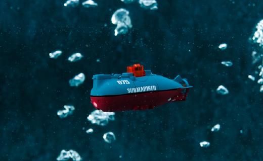 CCP 075遥控潜水艇:体积世界最小,支持六种潜水模式