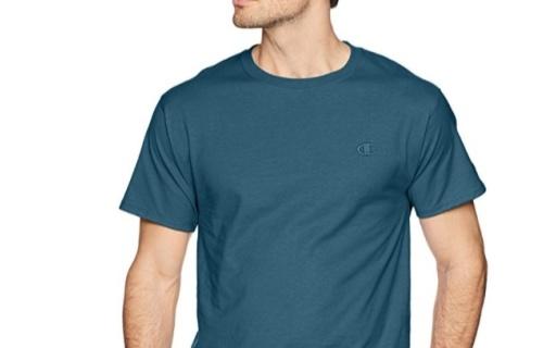 Champion男士纯色T恤:纯棉质感舒适柔软,款型经典白搭