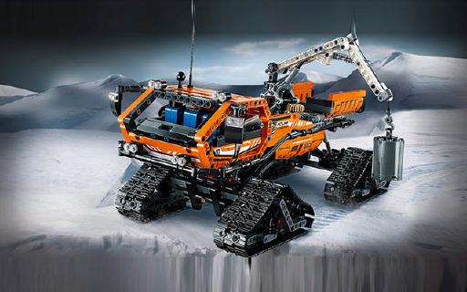 乐高 Technic极地工程卡车模型:2700块零件,真实还原吊臂可旋转